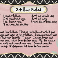 24 Hour Salad-June 2012 Recipe Swap
