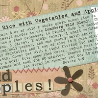 Wild Rice with Vegetables and Apples