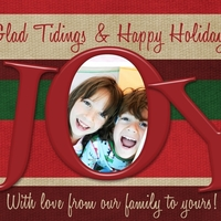 """Joy"" Digital Holiday Card"