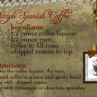 Simple Spanish Coffee Recipe card 4x6