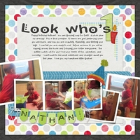 Nathan's First Birthday