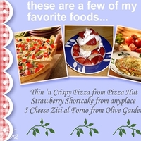 December 2012 ATC - Favorite Foods