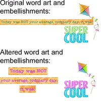 Altered Embellishments and Word Art