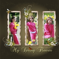 Love you my spring flower right