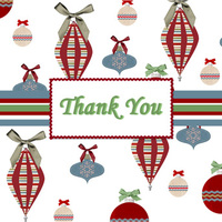 Christmas Thank you - folded notecard