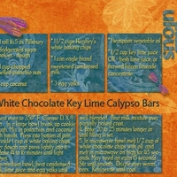 White Chocolate Key Lime Calypso Bars_Zaz this is for YOU!