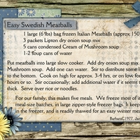 Easy Swedish Meatballs