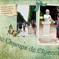 Mimes along the Champs Elysees, p.2