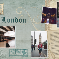 First Day in London, two-page spread