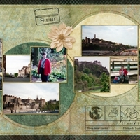Edinburgh Sights, two page spread thumbnail