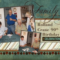 RPC 90th Birthday Card Games, left half of spread