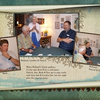RPC 90th Birthday Card Games, right half of spread