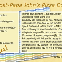 First card--Almost-Papa John's Pizza dough