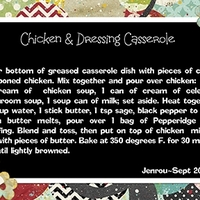Jenrou_Chicken and Dressing Casserole