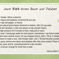 Jean's Fast Green Beans and Potatoes