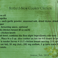 Jenrou Herbed Slow Cooker Chicken Web