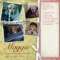 Tribute Page for Maggie - Newbie needs help