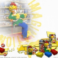 Sat 14jan12 colour challenge - Red and Yellow - LegoChook