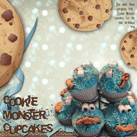 Sat Colour Challenge 20aug11 - Cookie Monster Cupcakes