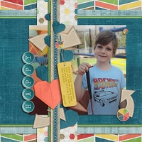 Using June's Scrap Girls Club on Boy-Themed Layouts