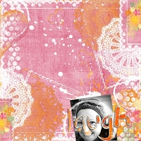 Layout using Cindy's Color Me Summer Collection