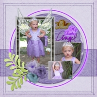 Friday Cust Purple Challenge-My Little Angel