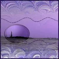 Saturday Color Challenge:  1/26/13  Purple Mono Liberty