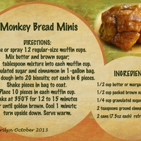 October 2013 Recipe Swap:  Monkey Bread Minis