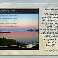 Card For Betsy - Wishing You Peace