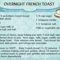 "March '14 Recipe Swap ""Overnight French Toast"""