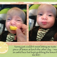 Project Life 2013 - Crawford and his first lemon tasting
