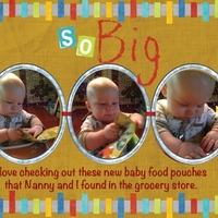 Project 2013 - Crawford checking out his new baby food