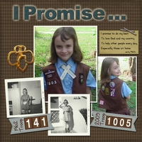 Brownie Promise - 3/11/13 challenge