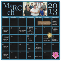 Project 52, March 2014 calendar