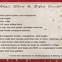 Xmas Slice & Bake Cookies