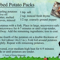 Herbed Potato Packs