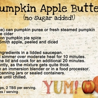 Pumpkin Apple Butter (no sugar added!)