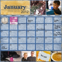 Project SG Challenge 2012, January calendar