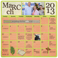 Project Life 2013 - March Calendar