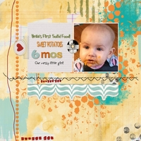 SATURDAY COLOR CHALLENGE - FIRST SOLID FOOD