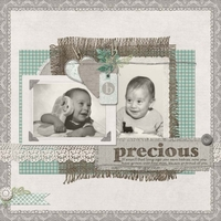 SG Digital Scrapbooking Club April 2013 - Precious