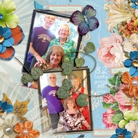 Mom 's 82nd Birthday(HNC-embellishments)