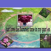 my Garden First  scrapbook page