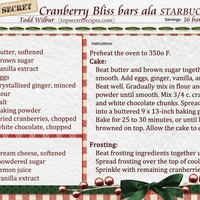 Starbucks Cranberry Bliss Copy cat