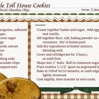 MW recipe:  Nestle Toll House Cookies!