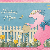 Layout for Ginny Whitcomb's ScrapSimple Card Templates: Everyday Cards 5 x 7