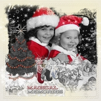 Dec 14 - B/W with Red - Santa Outfits