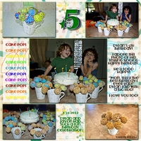 August 2 - Multiples Challenge - Dylan Birthday - Cake Pops