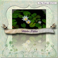 April 24 - Freebie - Water Lilies