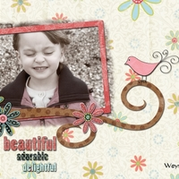 Layout 2 - beautiful, adorable, delightful